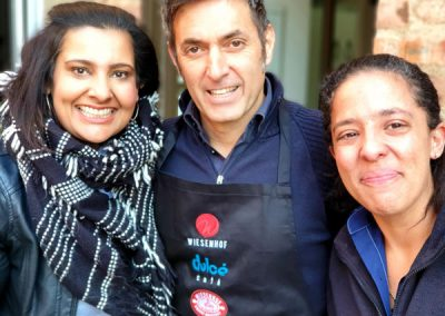 Alessandro Morrico of Morrico Imports with Sandy Varty on the left, National Brand Manager, and Sandra Van Doorn, National Operations Manager for Wiese Coffee Holdings