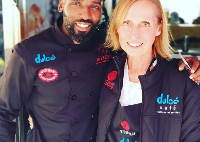 Khulekani Mpala, National Beverage Trainer and Brigid Jaucot Marketing & PR Manager for Wiese Coffee Holdings