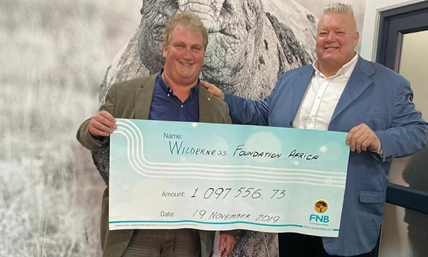 Wiese's Coffee for a Cause hands over R1m+ to Wildlife Foundation Africa
