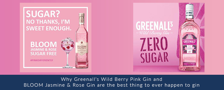 Greenall's Zero Sugar Gin | Bloom Jasmine & Rose Sugar Free Gin