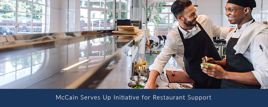 McCain Serves Up Initiative for Restaurant Support